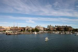 Victoria Bc Inner Harbour City Skyline by jpldesigns