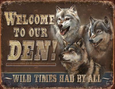 JQ - Den - Welcome Tin Sign