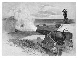 25 Ton Gun at Middle Head, Sydney, New South Wales, Australia, 1886 by JR Ashton