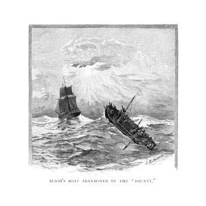 Captain Bligh's Boat Abandoned by the 'Bounty, 1789 by JR Ashton