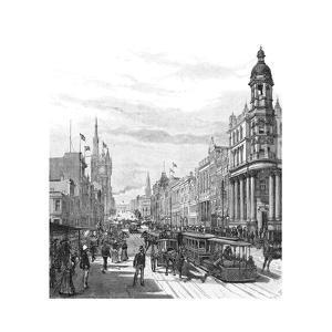Collins Street Looking East, Melbourne, Victoria, Australia, 1886 by JR Ashton
