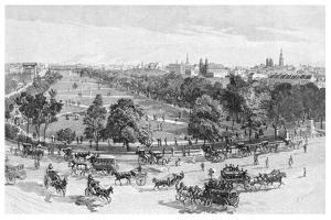 Hyde Park, Sydney, New South Wales, Australia, 1886 by JR Ashton