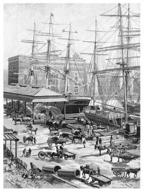 Shipping, Circular Quay, Sydney, New South Wales, Australia, 1886 by JR Ashton