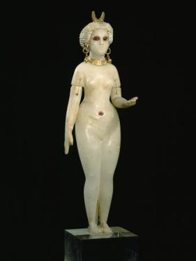 A Babylonian Alabaster Statue of Ishtar, the Goddess of Love, Dating from 350 B.C. by Jr Boswell