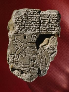 A Mesopotamian World Map and Its Accompanying Text Written in Cuneiform Found on a Clay Tablet by Jr Boswell