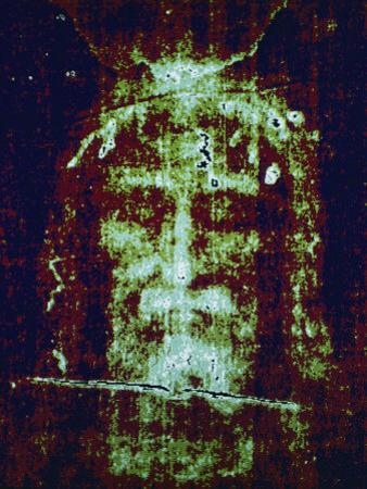 This is a Computer-Enhanced Image of the Face on the Shroud of Turin by Jr Boswell