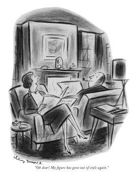 """""""Oh dear! My figure has gone out of style again."""" - New Yorker Cartoon by Jr. Darrow"""