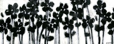 Black Flowers on White II by Jr. Wyatt