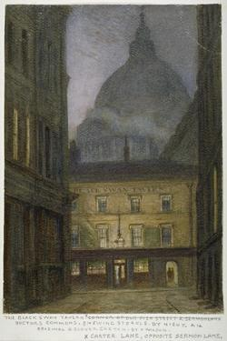 The Black Swan Tavern in Carter Lane, City of London, 1870 by JT Wilson