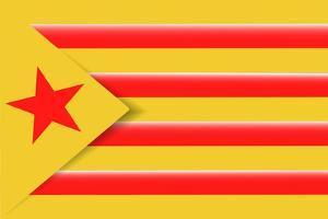 Red Estelada Flag by Juan Carlos B.