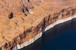 Aerial View of Cliffs at the Edge of Lake Powell by Juan Carlos Munoz