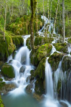Water Cascading Down Toberia Falls by Juan Carlos Munoz
