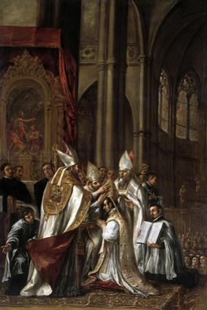 La Consagración De San Ambrosio Como Arzobispo, Ca. 1673 by Juan de Valdes Leal