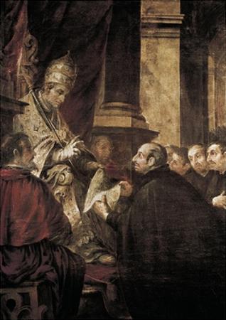 Saint Ignatius of Loyola Receiving Papal Bull from Pope Paul III by Juan de Valdes Leal
