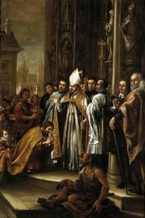 San Ambrosio Absolviendo Al Emperador Teodosio, Ca. 1673 by Juan de Valdes Leal