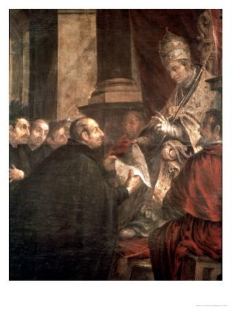 St. Ignatius Receiving the Papal Bull of the Foundation of the Company of Jesus by Juan de Valdes Leal