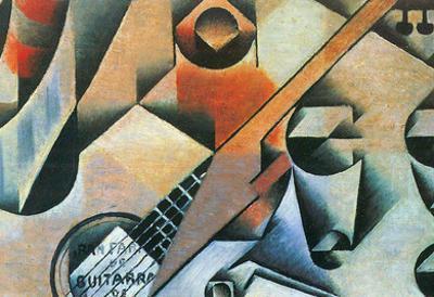 Juan Gris Banjo Guitar and Glasses Cubism Art Print Poster