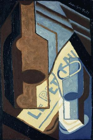 Bottle and Glass; Bouteille et Verre, 1921 by Juan Gris