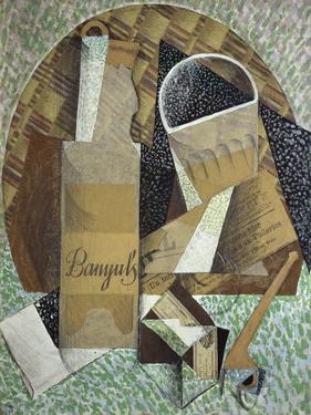 Bottle of Banyuls, c.1914 by Juan Gris