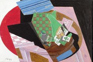 Draughtboard and Playing Cards by Juan Gris