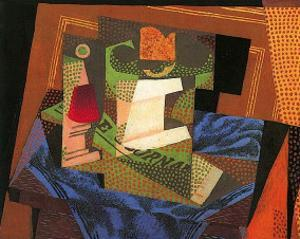 Fruit Bowl on a Tablecloth by Juan Gris