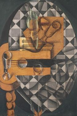 Guitar, Bottle, and Glass, 1914 by Juan Gris