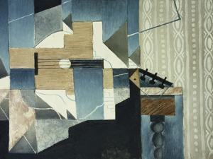 Guitar on Table by Juan Gris