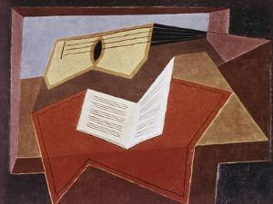 Guitar with Sheet of Music by Juan Gris