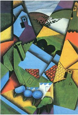 Juan Gris Landscape with Houses in Ceret Cubism Art Print Poster