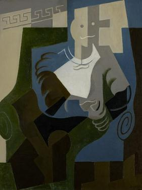 Seated Harlequin, C.1920 by Juan Gris