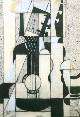 Juan Gris Still Life with Guitar Cubism Art Print Poster