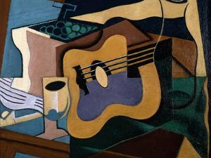 Still Life with Guitar, October-November 1920 by Juan Gris