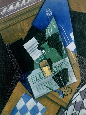 Still Life with Water Bottle, Bottle and Fruit Dish, 1915 by Juan Gris