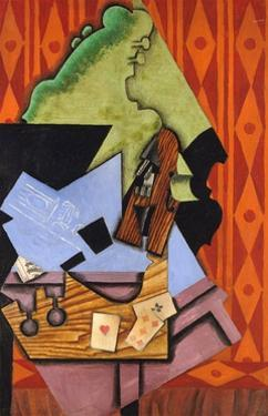 Violin and Playing Cards on a Table by Juan Gris