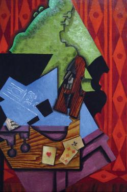 Violin and Playing Cards by Juan Gris