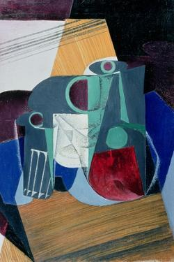 Wine Jug and Glass, 1916 by Juan Gris