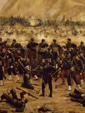 Battle of Miraflores, Peruvian Soldiers Defending Lima from Advance of Chilean Army by Juan Manuel Blanes