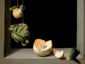 Quince, Cabbage, Melon, and Cucumber, C.1602 by Juan Sanchez Cotan