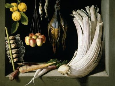 Still Life with Game, Vegetables and Fruit, 1602