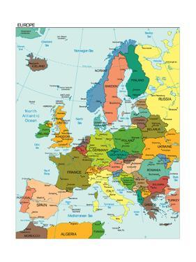 World Earth Europe Continent Country Map by juan35mm