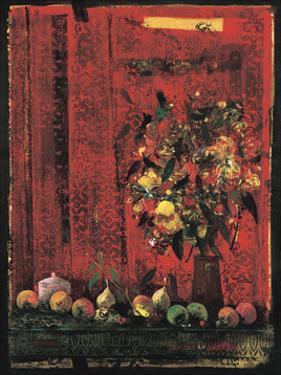 Mesa con Mantel Rojo by Juaquin Hidalgo
