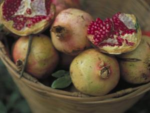 Basket of Pomegranate, Oaxaca, Mexico by Judith Haden