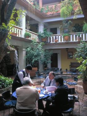 Businessmen Enjoying the Local Comida Corrida, Oaxaca, Mexico by Judith Haden