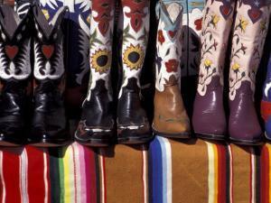 Cowboy Boots Detail, Santa Fe, New Mexico, USA by Judith Haden