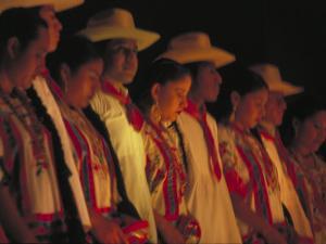 Dancer Performing at La Guelaguetza, Oaxaca, Mexico by Judith Haden