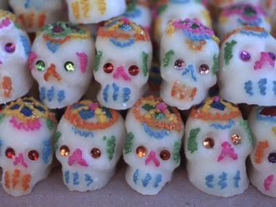 Day of the Dead, Sugar Skull Candy at Abastos Market, Oaxaca, Mexico