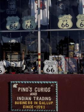 Route 66 Storefront, Gallup, New Mexico, USA by Judith Haden