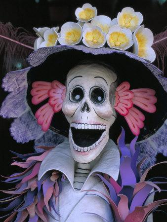 Skeletons, Day of the Dead, Paper Mache Sculpture, Oaxaca, Mexico