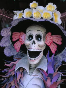 Skeletons, Day of the Dead, Paper Mache Sculpture, Oaxaca, Mexico by Judith Haden