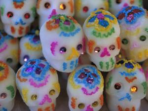 Sugar Skulls are Exchanged Between Friends for Day of the Dead Festivities, Oaxaca, Mexico by Judith Haden